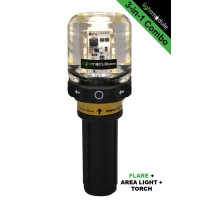 LMPRO 3-in-1 GREEN Electronic LED Flare with Battery Pack