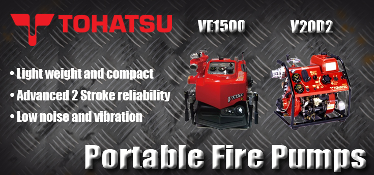 Tohatsu 2 Stroke Fire Fighting Pumps