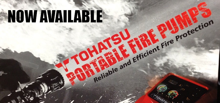 Tohatsu Fire Fighting Pumps Now Available