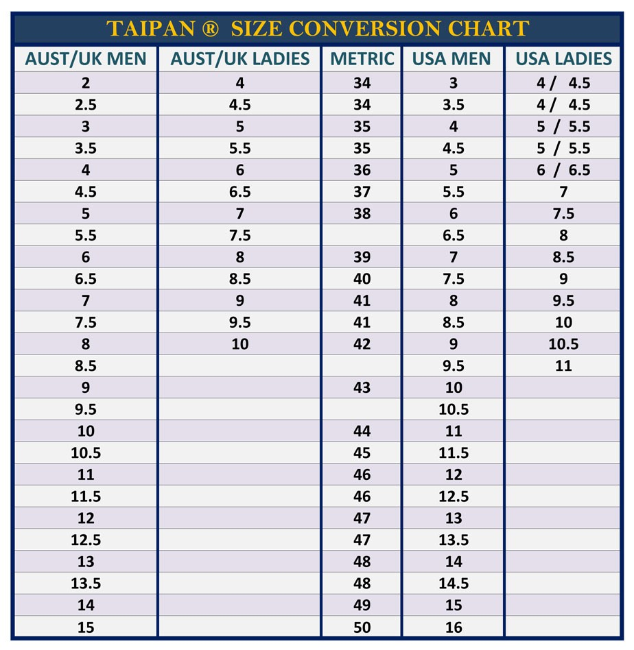 Brt fire and rescue supplies taipan footwear fire boot low cut taipan size chart nvjuhfo Choice Image