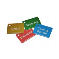 Anodised Aluminium Fuel ID Tags