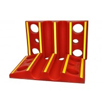 Double Fire Hose Ramp with Reflective Stripping