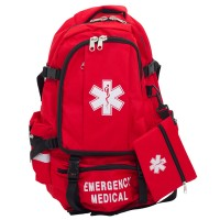 Harcor - Medical Backpack - Front - Red