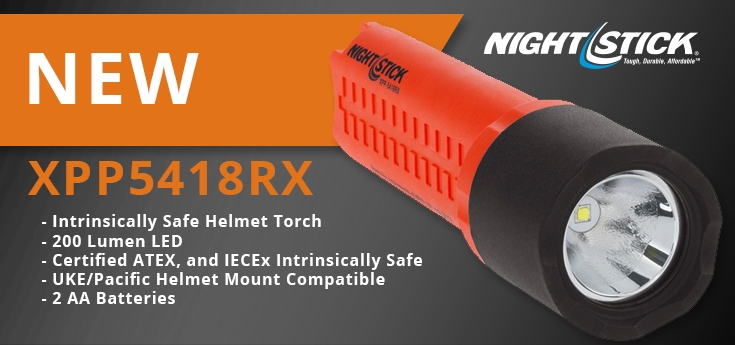 Nightstick Intrinsically Safe Helmet Torches - XPP5418RX