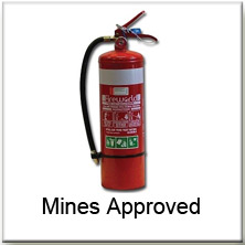 Mines Approved DCPBE Extinguisher